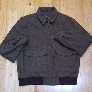 Eddie Bauer Wool Hunting Sport Coat Jacket 1940s M